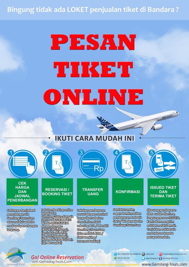 PESAN TIKET ONLINE VIA GEMILANG-TOURS.COM