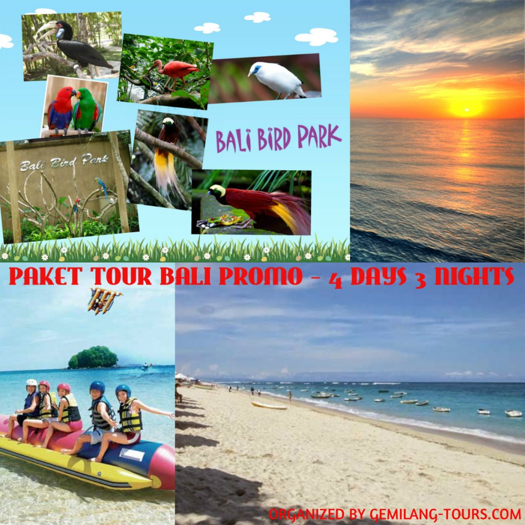 PAKET TOUR BALI PROMO – 4 DAYS 3 NIGHTS