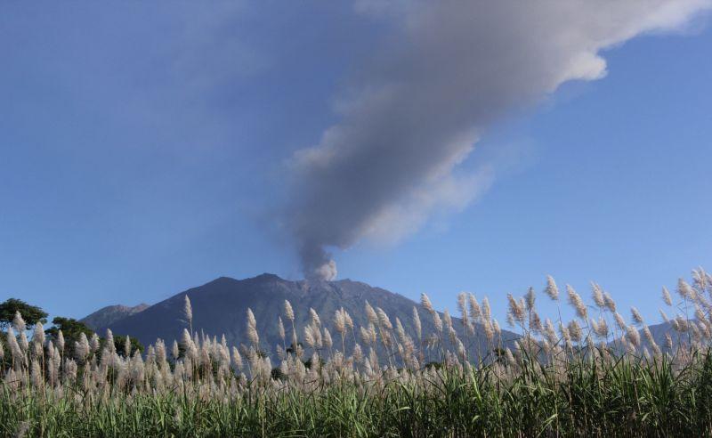 Debu Vulkanik Gunung Raung