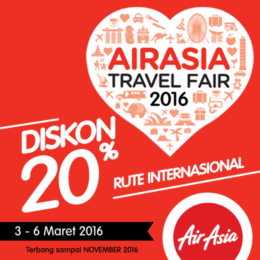 AirAsia Travel Fair 2016 Hadir di Surabaya